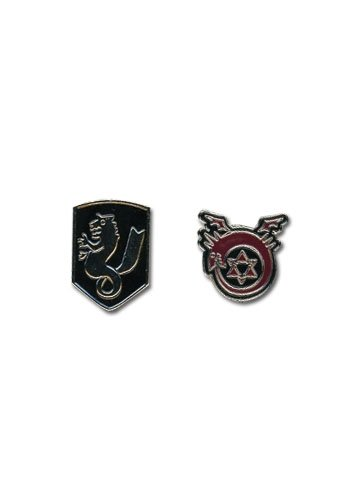 Mens New Icon (Pin Set - Fullmetal Alchemist Brotherhood - New Icon Logo Anime Licensed ge6739)