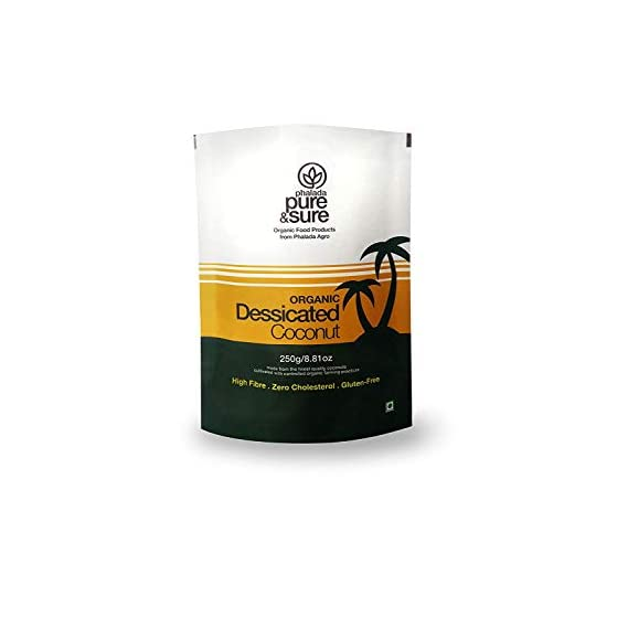 Pure and Sure Organic Desiccated Coconut Powder, 250g