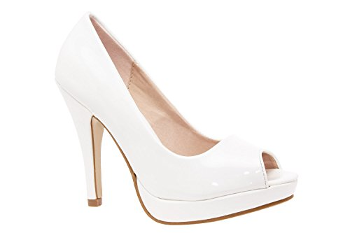 Sizes AM5003BRIDAL 5 0 Leather Pumps UK 8 Platform 35 to Toe UK Size to and Peep Andres 5 10 Machado EU Petite Large 5 to 42 45 White Patent 2 Range Engraved Patent Faux to 32 EU 5qcxXWOTUw