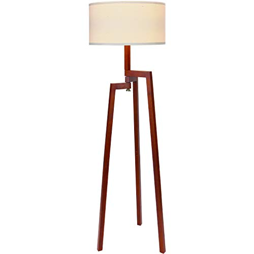 Lamp Plus Wood Floor Lamps (Brightech New Mia LED Tripod Floor Lamp– Modern Design Wood Mid Century Modern Light for Contemporary Living Rooms- Rustic, Tall Standing Lamp for Bedroom, Office- Havana Brown)