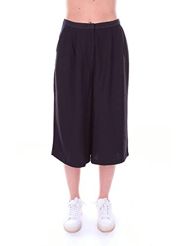 YERSE Pantaloni Donna 23825BLACK Cotone Nero