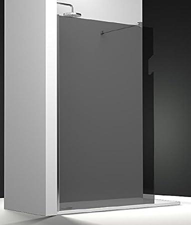 Mampara de ducha fija One vidrio transparente Securit en gris ...
