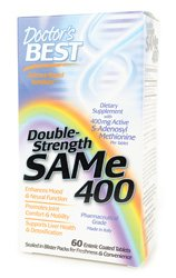 Doctor's Best SAMe 400mg Double Strength, 60 Tablet