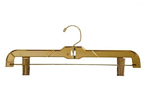 NAHANCO 3600RC G Gold Ladies Skirt Hanger 14'' with RC (Pack of 100) by NAHANCO