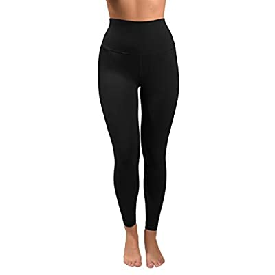 90 Degree By Reflex Cotton Super High Waist Ankle Length Compression Leggings with Elastic Free Waistband at Women's Clothing store