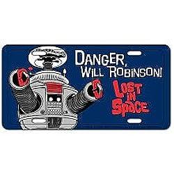 Lost in Space Metal License Plate