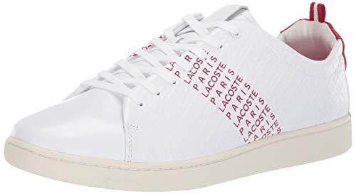 Lacoste Mesh Sneakers - Lacoste Men's CARNABY EVO Sneaker, White/red, 12 Medium US