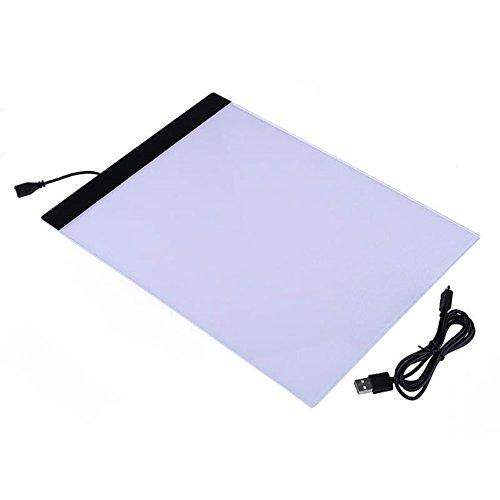 1pcs A4LED Artist fine art Pochoir Planche à dessin LED Light Pad Table Pad Panneau Dessin traçage Tracer copie Tableau lumière Draw