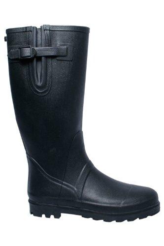 Scarpe fodera uomo Wellies in Warehouse cotone in da Nero scarpe alte pulire da facili 100 stivali e resistenti Mountain suola Wellington antipioggia gomma 5OAIpq5