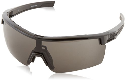 Under Armour Freedom Shiny Black Frame, with Black Rubber, and Ballistic Gray, Yellow & Clear Lenses