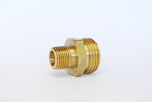 MettleAir 196-C 3/4'' GHT Garden Hose to 3/8'' NPT Brass Coupler/Adapter/Connector (Pack of 10)