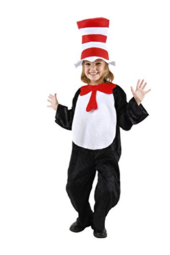 Dr. Seuss Cat in the Hat Toddler Costume (2T-4T) by elope (Cat Costumes For Toddlers)