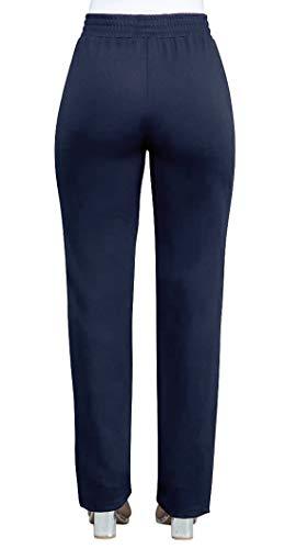 Sottile Righe Pantaloni Cucitura Donna Lungo Blu Casual Reale Pants OUFour Trousers CwPIqq