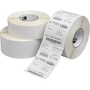 Zebra Z-Xtreme 5000T Thermal Label – 0.94″ Width x 0.94″ Length – 4 Roll – Square – 2195/Roll – 1″ Core – Acrylic, Polyester – Thermal Transfer – White – 10018342