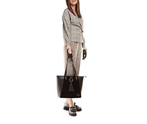 WITTCHEN Elegante Tasche | 30x40cm, Narbenleder | Passend für A4 Größe: Ja | Schwarz, Kollektion: Elegance | 85-4E-200-1