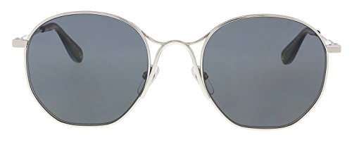 Givenchy Women's Round Metal Frame Sunglasses, Palladium/Grey Blue, One (Palladium Blue Sunglasses)