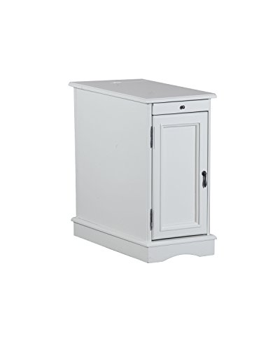 Powell s Furniture 15A2017WA Butler Accent Table, White, Small,