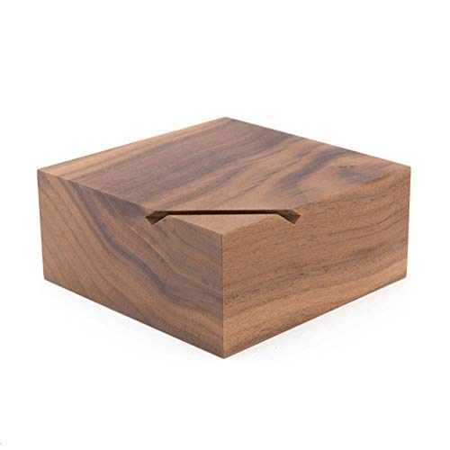 Home Décor Storage Money Banks Nordic Style Black Walnut Wood Coin Box Solid Wood Coin Box Square Storage Box Piggy Bank Furniture Games Money Banks (Piggy Solid Bank)