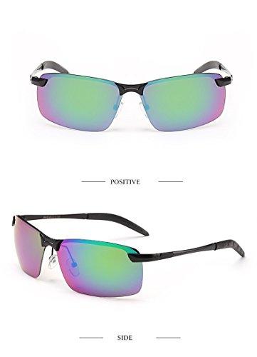 gafas morado sol polarizadas sombreado 2018 pesca deportivas Marco Verde de moda de Aiku Negro blanca de nariz sol gafas de hombres Verde plateado Púrpura última unidad 3043 Marco gOqXw7P