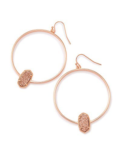 Kendra Scott Elora Rose Gold Hoop Earrings In Rose Gold Drusy