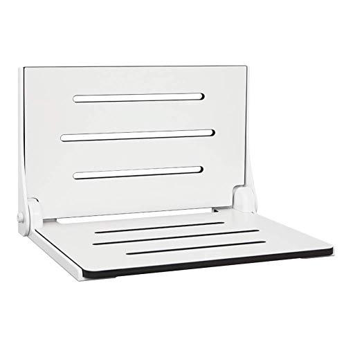 Seachrome Lift-Assist Shower Seat, Yoke-Style Bench Seat, Padded Naugahyde Top, Wall Mount, 28 x 15 Inches, White (Yoke Seat)