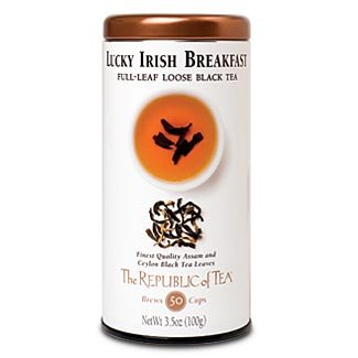 - The Republic Of Tea Lucky Irish Breakfast Full-Leaf Black Tea, 3.5 Ounces / 50-60 Cups (Refill Bag)