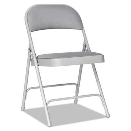 - Alera FC97G Steel Folding Chair with Two-Brace Support, Fabric Back/seat, Light Gray, 4/ct