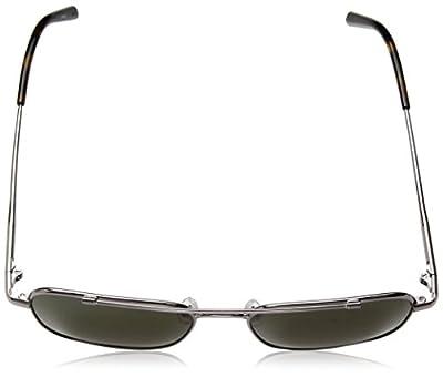 Calvin Klein Unisex Ck2150s Navigator Aviator Sunglasses, Gunmetal, 53 mm