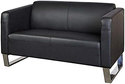 Outstanding Mahmayi Casual Two Seater Leather Sofa Black Buy Online At Creativecarmelina Interior Chair Design Creativecarmelinacom