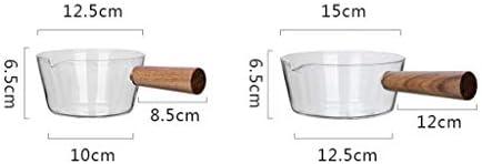 SXWGX Marmite à Soupe - feu Ouvert galvanisées Lait Pot bébé supplément Alimentaire Pot Noodle Pot Lait Boiled Petit Pot Soupe de Nouilles Pot au gaz Pot (Size : 15cm)