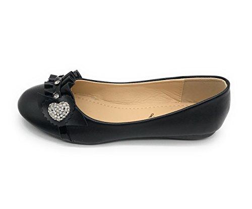 Blue Berry Easy21 Dames Casual Flats Ballet Mode-schoenen Kunstleer Black68
