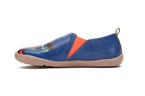 Marino Para Mocasín Descubrimiento Para Azul Altas hombres de UIN Tierras Viajar Zapatos Microfibra qtw5AxIAaP