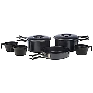 Vango Non Stick Cook Set with Cups – Black