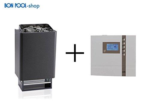 Saunaofen EOS 43FN 7,5kW + Steuerung EOS ECON D2+15 kg Steine