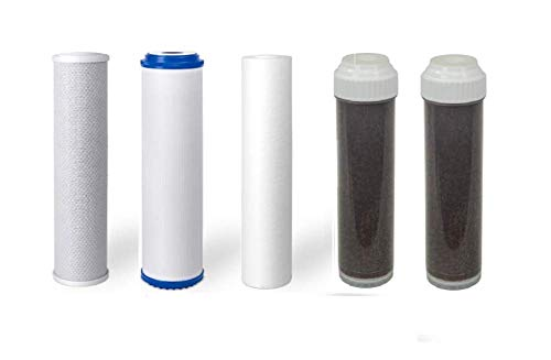 Premier Replacement Filters for 5 or 6 Stage Aquarium Reef Reverse Osmosis RO/DI Water Systems (Sediment, GAC, Carbon, 2 DI Filters) (6 Stage) from Premier