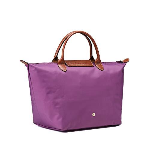 Sac Longchamo Violet Pliage Cabas femme pour Le PxSnW40x