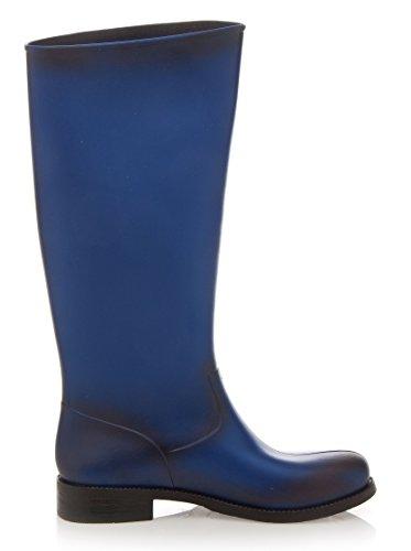 Blue LOVE Boots MOSCHINO Electric 38EU 5UK Wellington qz7YTUxwz