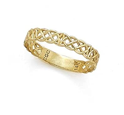 14ct Gold Celtic Band Thumb Ring Ring Size Options Range L to X