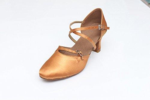 Nykytanssi Kengät Pohja Pehmeä Naisten Tangoa Naisten Tanssi Ruskea Kengät Valssi 5cm Shangyi Korkeus OT6wqH6