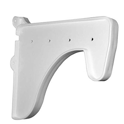 EZ Shelf - 1 End Bracket for Closet Shelf & Rod - White - For Mounting to Back Wall (Without Side Wall) or Joining 2 Units Together