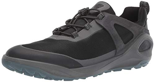 (ECCO Men's Biom 2GO Gore-TEX-Waterproof Outdoor Lifestyle Multi-Sport Speed Lace Hiking Shoe, Dark Shadow/Titanium/Black, 44 M EU (10-10.5 US) )