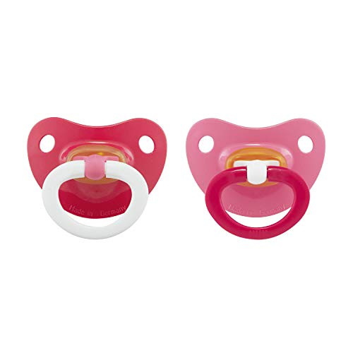 - NUK Latex Orthodontic Pacifiers, Girl, 0-6 Months, 2-Pack, 0-6 Months (Pack of 2)