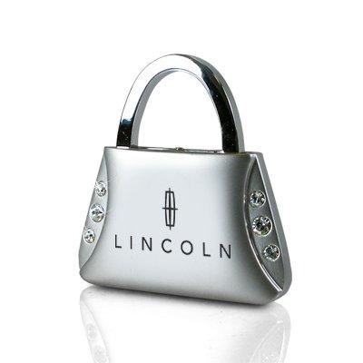 Au-Tomotive Gold, INC. Lincoln Clear Crystals Purse Shape Key Chain