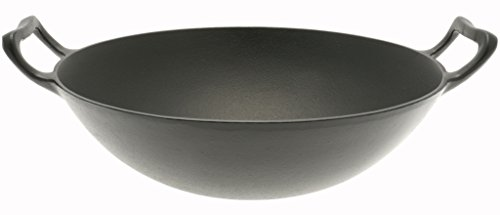 Iwachu Cast Iron Wok, Black