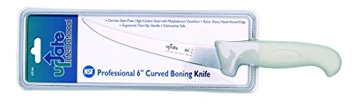 "Update International (KP-04) 6"" German Steel Curved-Blade Boning Knife"