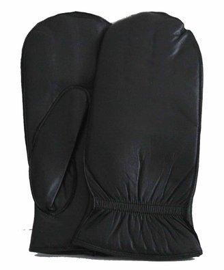 Women's Soft Black Leather Glitten/mitten/glove Size Large