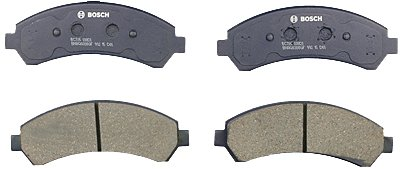 Bosch BC726 QuietCast Premium Ceramic Disc Brake Pad Set For Select Chevrolet Blazer, S10; GMC Jimmy, Sonoma; Isuzu Hombre; Oldsmobile Bravada; Front