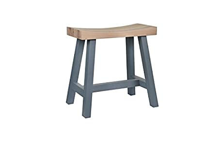 Pleasing Garden Trading Clockhouse Stool In Charcoal Oak Amazon Co Creativecarmelina Interior Chair Design Creativecarmelinacom