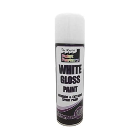 img buy White Gloss Spray Paint Interior & Exterior 250ml Can