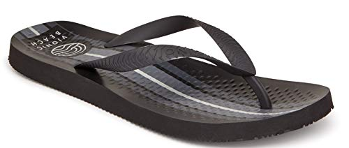 - Vioinc Men's Beach Manly Flip-Flop Sandal - Mens Thong Sandals with Concealed Orthotic Arch Support Black Stripe 10 M US